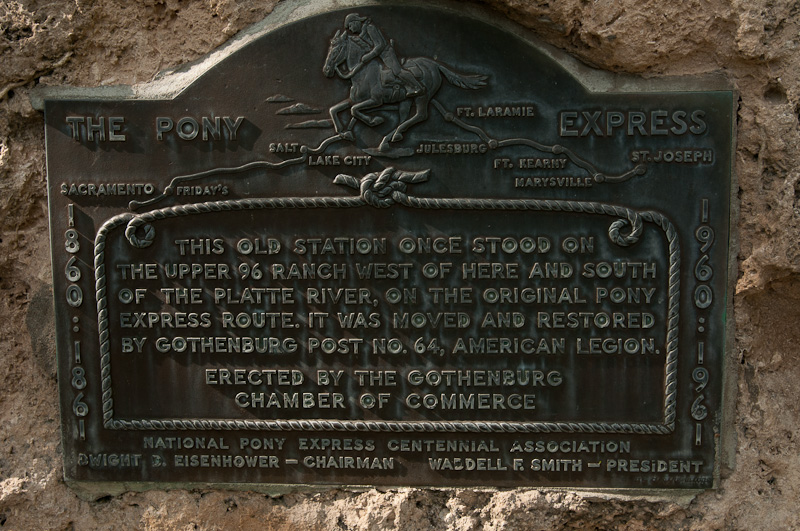 Pony Express -  Gothenburg, NE